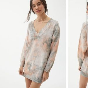 NWT Urban Outfitters Norah Tie Dye Sweater Dress S